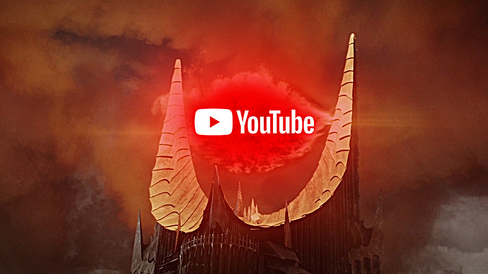 """We are now living in a """"Dark Age"""" of internet censorship due to dishonest tech giants YouTube-Eye-of-Sauron"""