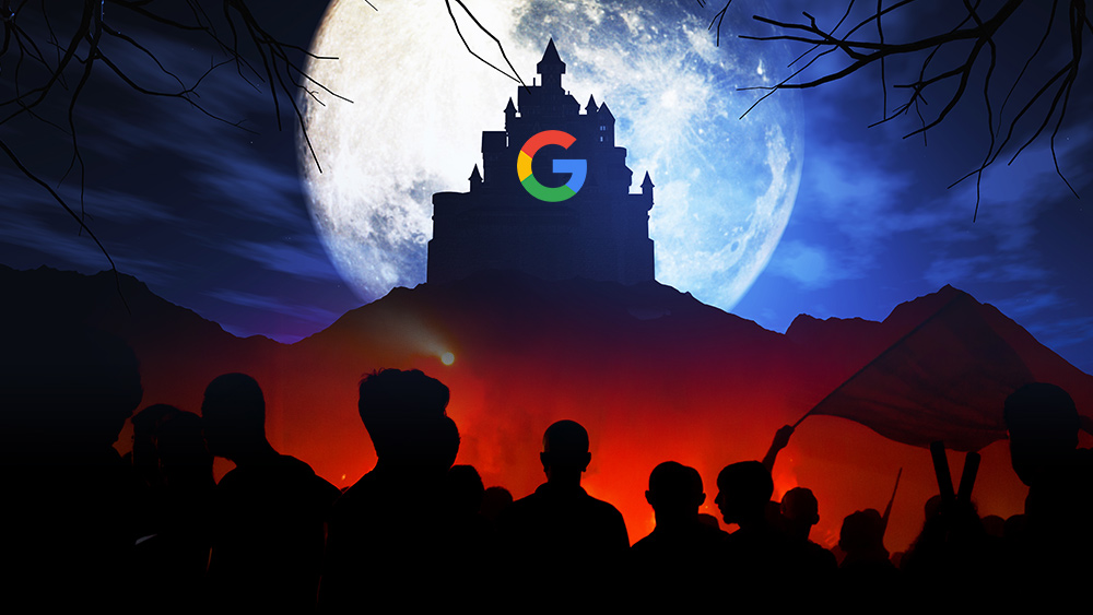 Google's monopoly power allows it to weaponize data against its political opposition Evil-Tower-of-Google